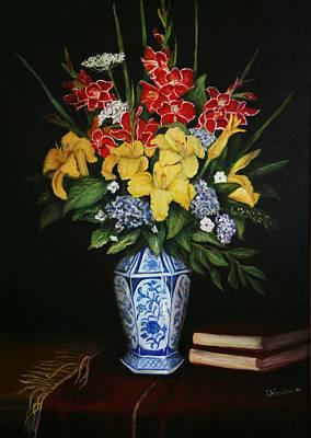 Garden Flowers  Art Print by Sandra Nardone