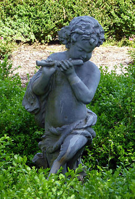 Photograph - Garden Flutist by Richard Bryce and Family