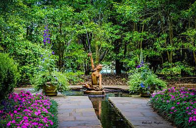 Photograph - Garden Fountain by Deborah Hughes