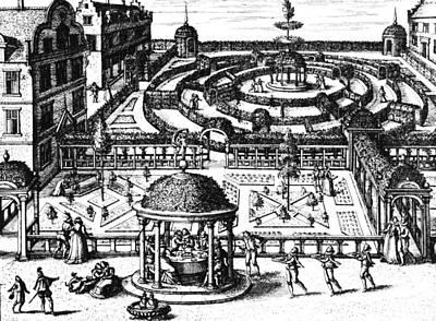 Maze Drawing - Garden From Hortum Viridariorumque Elegantes Et Mumultiplicis Formae by Vredeman de Vries