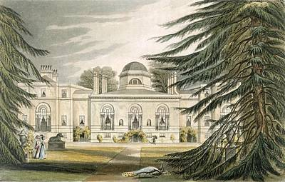 Garden Front Of Chiswick House Art Print by John Gendall