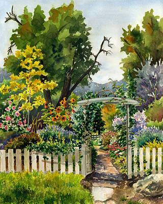 Garden Gates Painting - Garden Gate by Anne Gifford