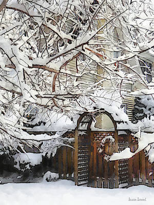 Photograph - Garden Gate In Winter by Susan Savad
