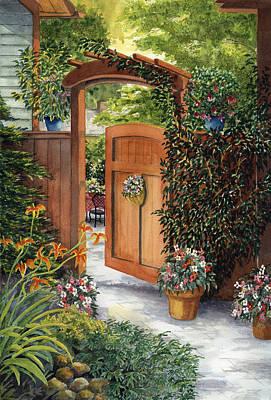 Garden Gate Art Print by Karen Wright