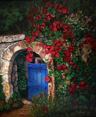Painting - Garden Gate by Pat Heydlauff