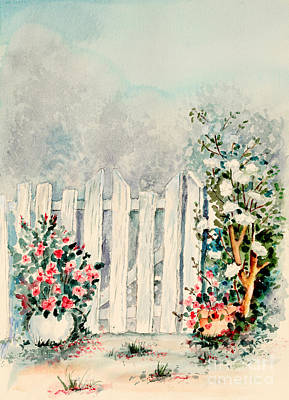 Garden Gate Art Print by Pattie Calfy