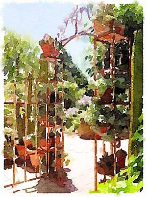 Digital Art - Garden Gate by Shannon Grissom
