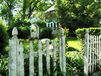 Photograph - Garden Gate by Susan Savad