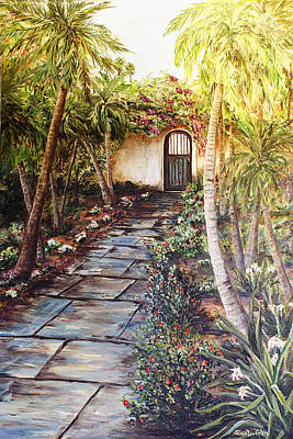 Garden Gate To Rosemary's Cottage Art Print