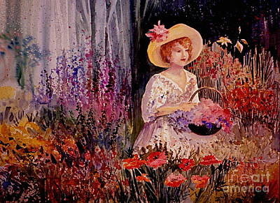 Painting - Garden Girl by Marilyn Smith