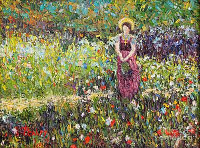 Garden Girl Art Print by Pattie Calfy