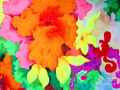 Nature Abstract Drawing - Garden Glory by Kathleen Allen