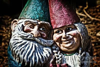 Photograph - Garden Gnome Couple by Ms Judi