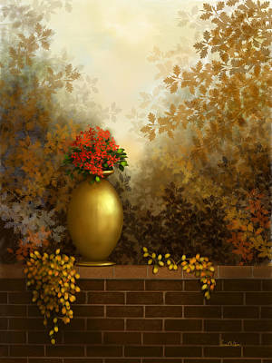 Painting - Garden Golds by Sena Wilson