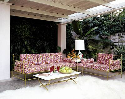 Couch Photograph - Garden-guest Room At The Chimneys by Tom Leonard