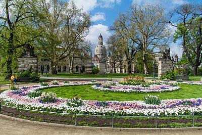 Thomas Kinkade - Dresden Garden by Robert VanDerWal