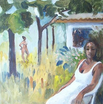 Garden In Lopinot 1 Art Print by Mary Adam