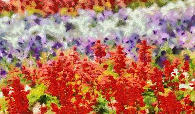 Impressionist Mixed Media - Garden Inspiration by Dan Sproul