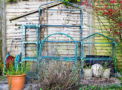 Junk Photograph - Garden Items by Tom Gowanlock