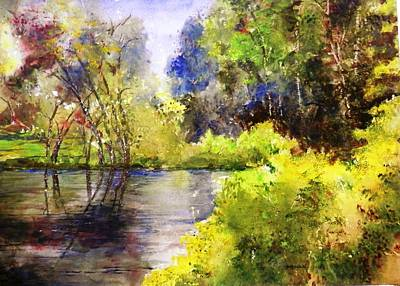 Painting - Garden Lake by Marilyn McMeen Brown