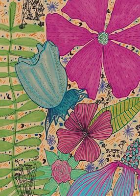 Still Life Drawings - Garden Magic by Rosalina Bojadschijew