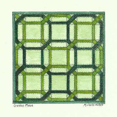 Painting - Garden Maze Quilt by Michelle Welles
