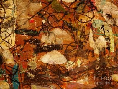 Sepia Ink Mixed Media - Garden by Nancy Kane Chapman