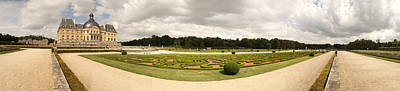 Chateau Photograph - Garden Of A Castle, Chateau De by Panoramic Images