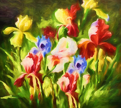Floral Mixed Media - Garden Of Blooms by Georgiana Romanovna