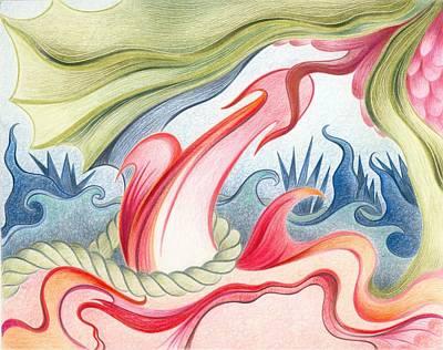 Suggestive Drawing - Garden Of Earthly Delights by Cornelia Karkossa