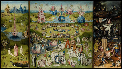 Wall Art - Painting - Garden Of Earthly Delights by Hieronymus Bosch