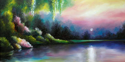 Moonscape Painting - Garden Of Eden I by James Christopher Hill