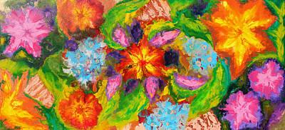 Turquoise Painting - Garden Of Eden by Julia Apostolova