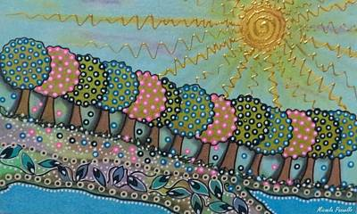 Fruit Tree Art Painting - Garden Of Eden by Micaela Pazuello Mica