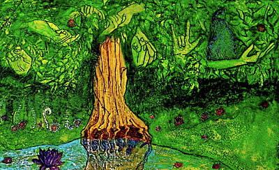 Garden Of Intent Eden For Pandemonium Original by D Renee Wilson