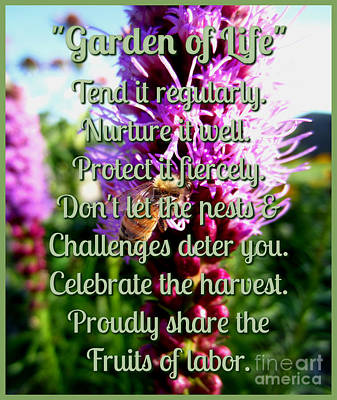 Photograph - Garden Of Life 1 by Janet Otto