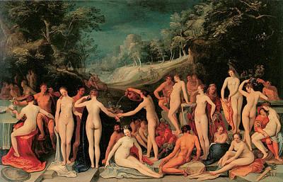 Garden Of Love Art Print by Karel Van Mander I