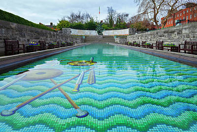 Mosaic Photograph - Garden Of Remembrance - An Gairdn by Panoramic Images