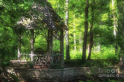 Bamboo Chair Photograph - Garden-of Romance  by Peggy Franz