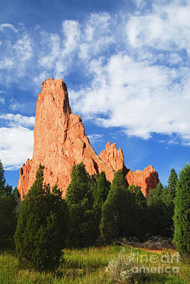 Steven Krull Royalty-Free and Rights-Managed Images - Garden of th Gods by Steven Krull