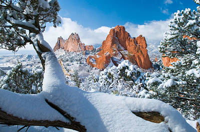 Photograph - Garden Of The Gods After A Snow by John Hoffman
