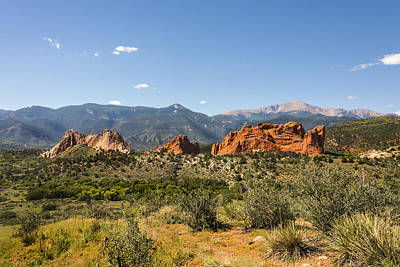 Photograph - Garden Of The Gods And Pikes Peak - Colorado Springs by Brian Harig