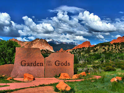 Rose - Garden of the Gods and Pikes Peak by Gregory Ballos