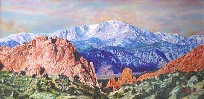 Pikes Peak Colorado Painting - Garden Of The Gods by Emily Petitto
