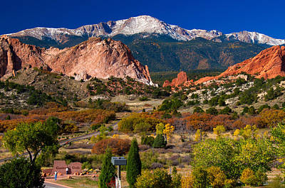 Photograph - Garden Of The Gods In Autumn 2011 by John Hoffman