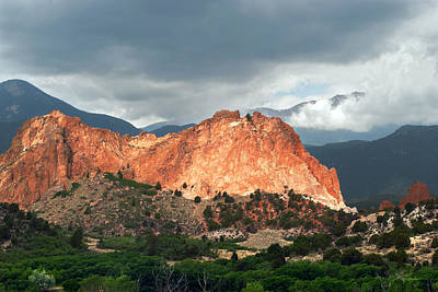 Garden Of The Gods Mountain Landscape Print by Julie Magers Soulen