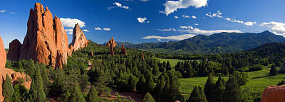 Garden Of The Gods Panorama At It's Best Art Print
