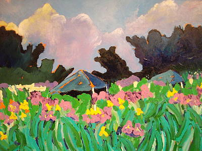 Painting - Garden Party 2 by Rodger Ellingson
