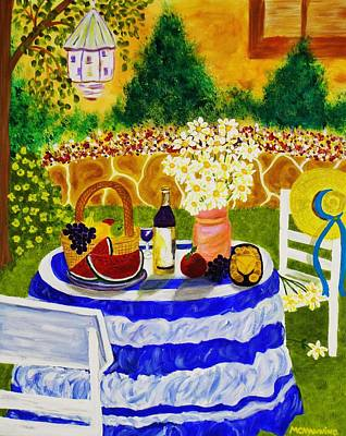 Party Scene Painting - Garden Party by Celeste Manning