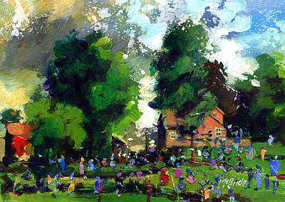 Crowd Painting - Garden Party by Neil McBride